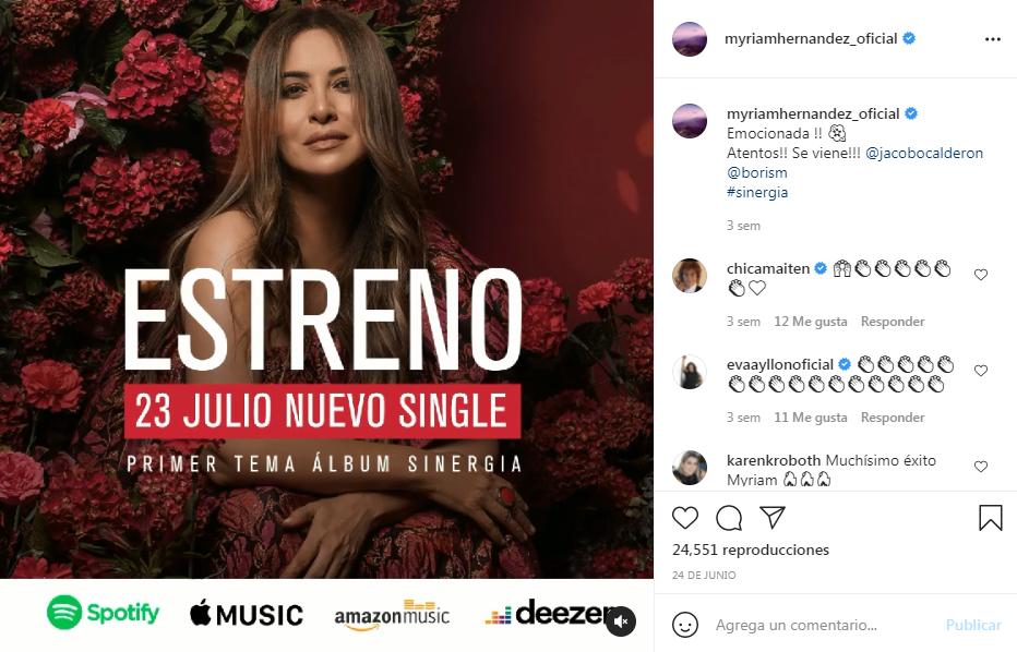 La nueva canción de Myriam Hernández se estrena este viernes