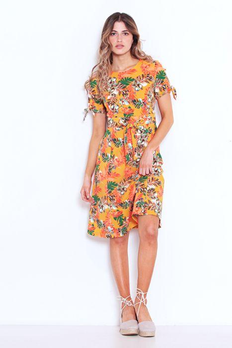 vestido naranja Wados